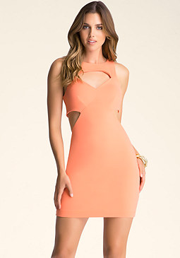 bebe Multi Cutout Dress