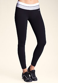 bebe Ruched Mesh Leggings