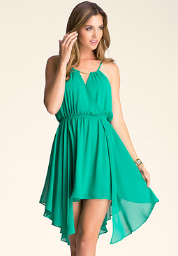 bebe Surplice Overlay Dress