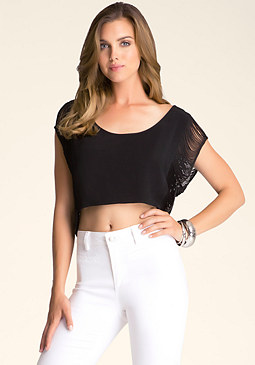 bebe Fringe Crop Top