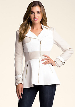 bebe Bianca Coated Trench Coat