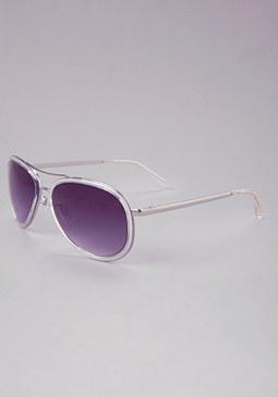 bebe Lucite Aviator Sunglasses