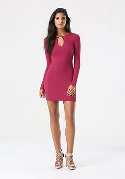 bebe Front Keyhole Dress