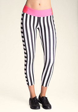 bebe Mixed-Stripe Crop