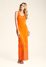bebe 3-Tier Inset Maxi Dress