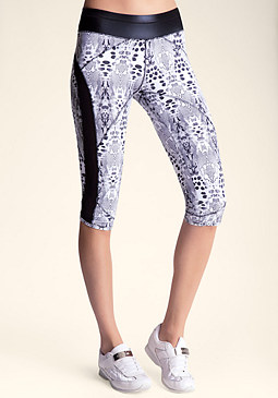 Printed Mesh Inset Capri at bebe