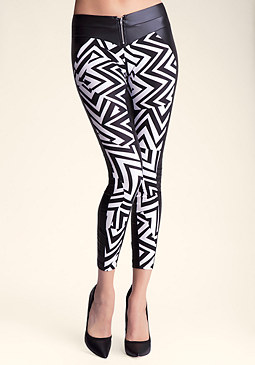bebe Fractured Angles Legging