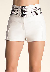 bebe Embellished Hot Pants