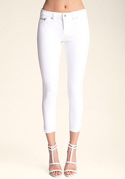 Zip Pocket Capris at bebe