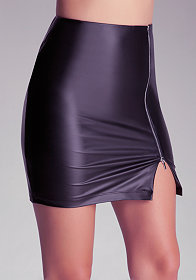 bebe West Slip Slit Skirt