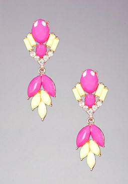 bebe Floral Statement Earrings