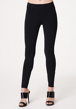 bebe Ankle Zip Knit Leggings