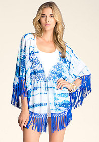 bebe Embroidered Poncho