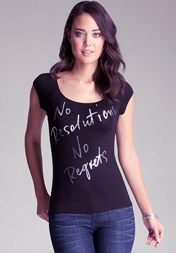 bebe No Regrets Tee
