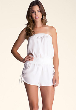 bebe Beach Romper Cover Up