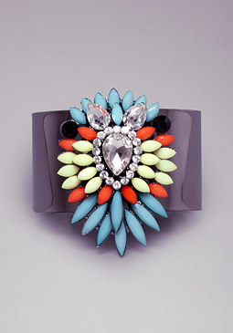 bebe Multi Layer Stone Cuff