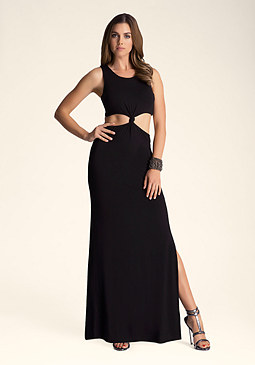 bebe Waist Knot Long Dress