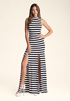 bebe Side Slit Maxi Dress