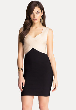Ally Colorblock Dress at bebe