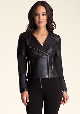 bebe Asymmetric Zip Jacket