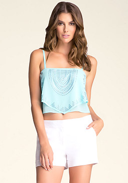 bebe Embellished Layered Cami