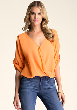 Download this Twist Front Zipper Top... picture
