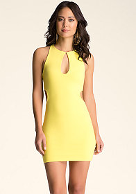 bebe Open Net Cutout Dress