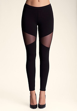 bebe Triangle Mesh Legging