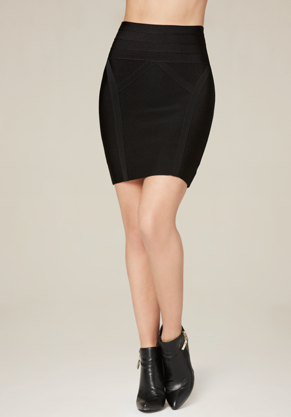 High Waist Bodycon Skirt - Bottoms | bebe