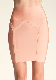 bebe High Waist Bodycon Skirt