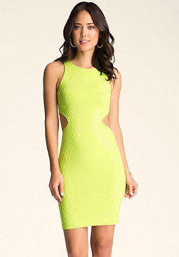 CUTOUT TONAL DRESS at bebe