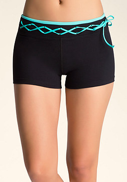 bebe Lace-Up Shorts