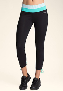 bebe Lace Up Crop Leggings