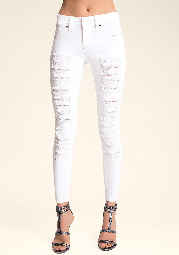Chained & Shredded Skinnies