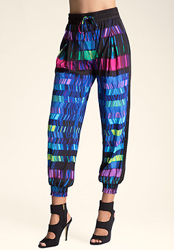 Print Smock Top Pants at bebe