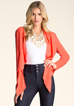 FALL OPEN FLYAWAY JACKET at bebe
