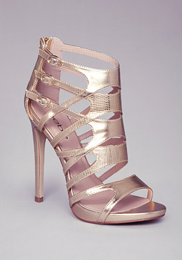 JUANITA CAGED SANDALS at bebe