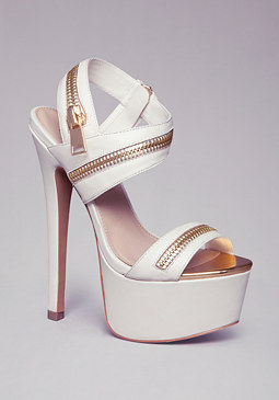 YUDELKA ZIPPER SANDALS at bebe