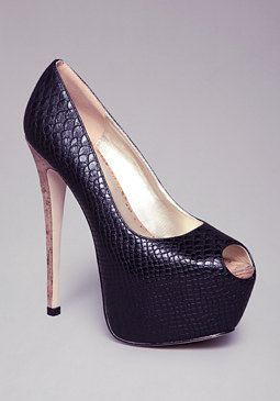 KATRICE PEEP TOE PLATFORMS at bebe