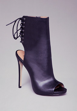 MATISON LACE-UP MULE HEELS at bebe
