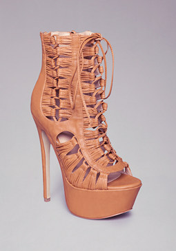 Aldea Knotted Open Booties at bebe