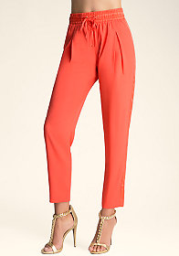 Panel Stripe Tie Pants at bebe