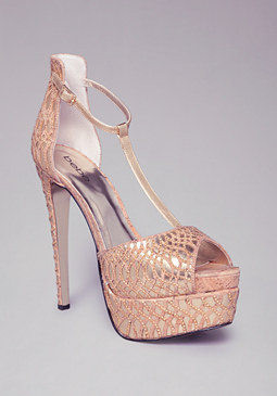 Desiree Beaded Sandals at bebe
