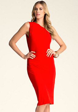 bebe Asymmetric Neck Dress