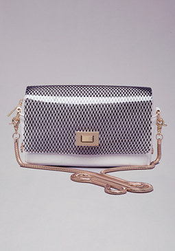 MELINA MESH CROSSBODY PURSE at bebe