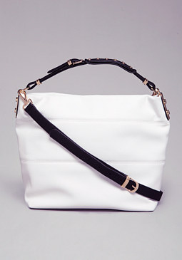 TRINA COLORBLOCK HOBO PURSE at bebe