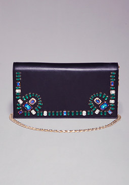 Zuma White Jewel Clutch at bebe