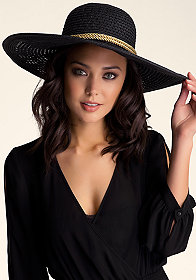 OPEN WEAVE FLOPPY HAT at bebe