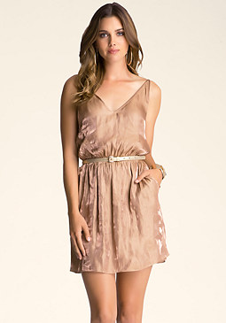 bebe V-Neck Woven Dress