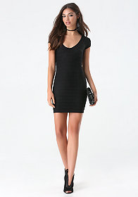 bebe Ottoman Zipper Dress
